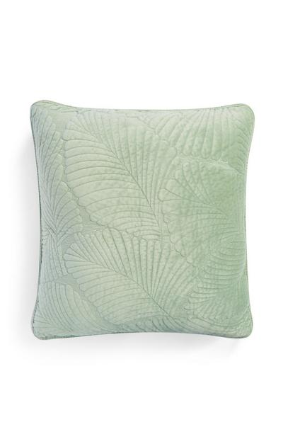 Green Quilted Velvet Cushion