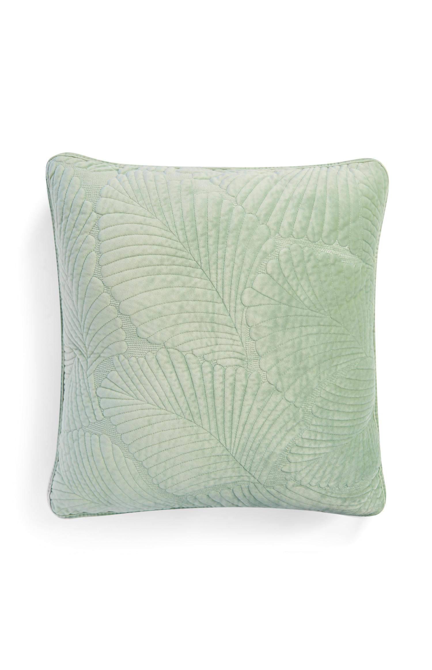 Almofada veludo acolchoada verde