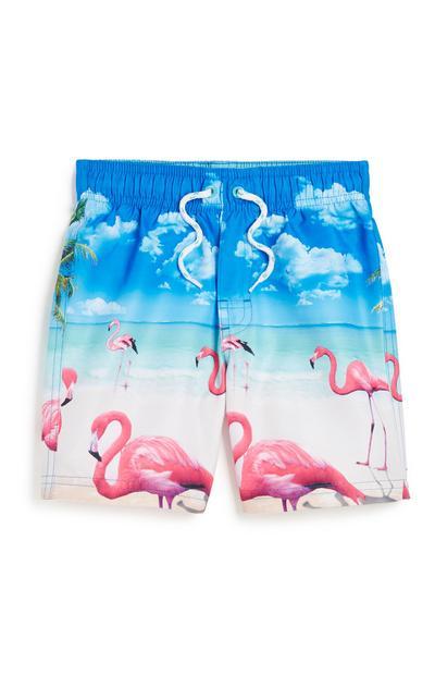 Younger Boy Flamingo Short