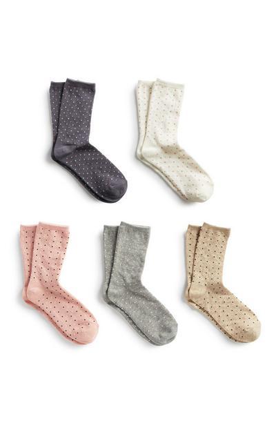 Polka Dot Sock 5Pk