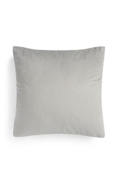 Grey Faux Velvet Cushion