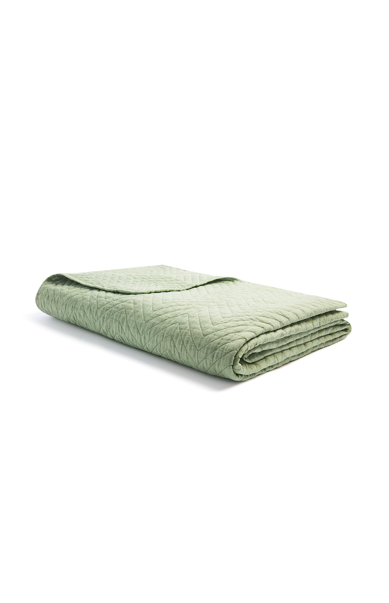 Green Quilted Throw