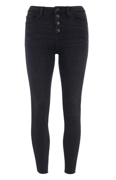 Black Button Jeans