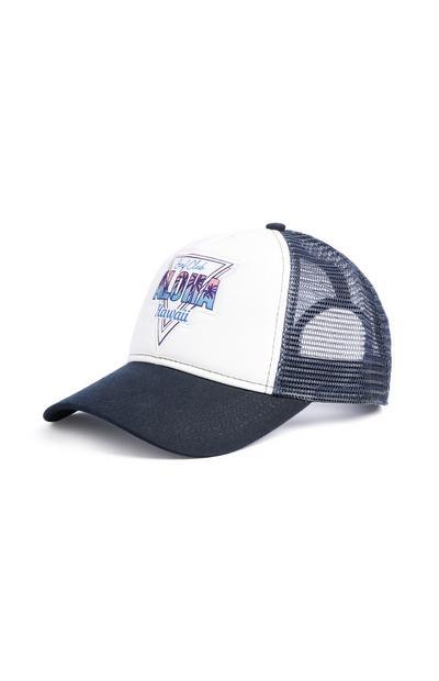 White Denim Aloha Cap