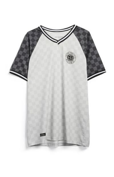Check Jersey Top