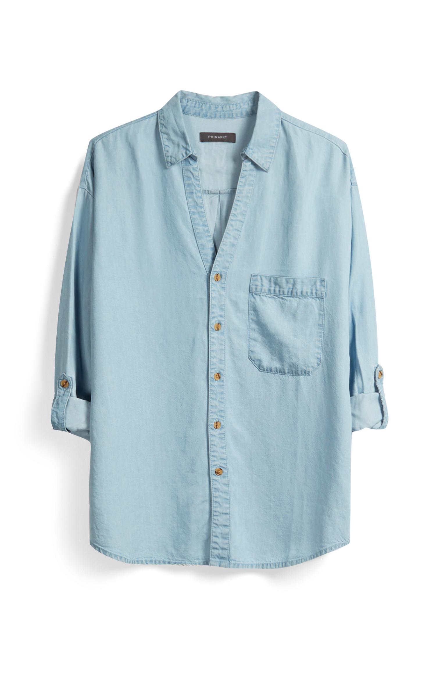 Camicia blu in denim
