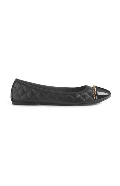 Black Quilted Pump