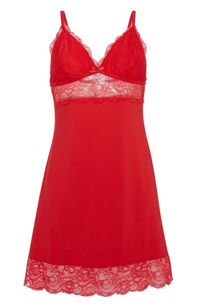 Red Slip Dress