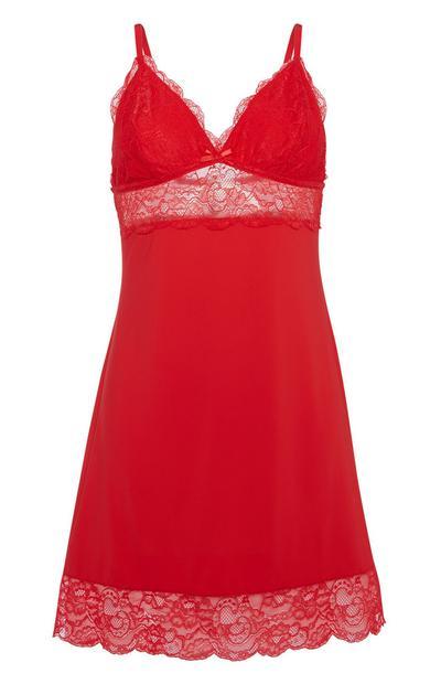 Red Slip Dress
