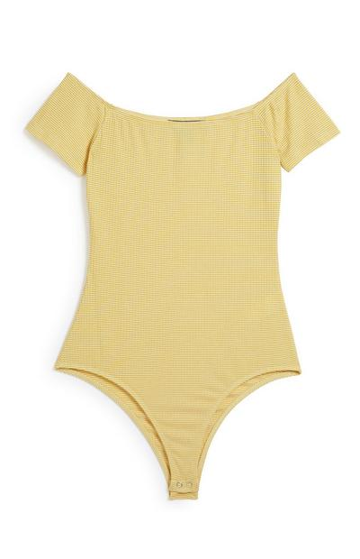 Yellow Bardot Bodysuit