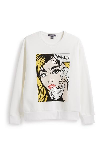 Comic Printed Sweatshirt