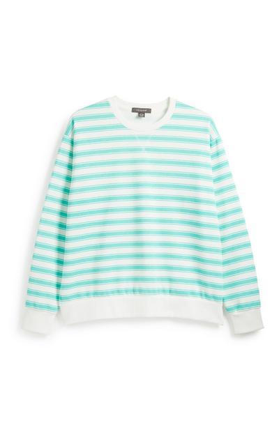 Aqua Stripe Sweatshirt