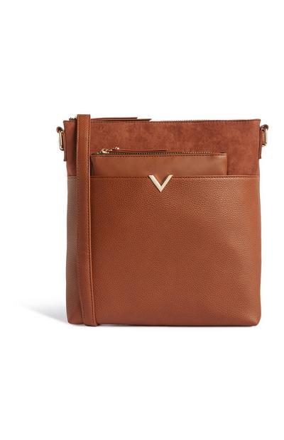 Tan Messenger And Purse Bag