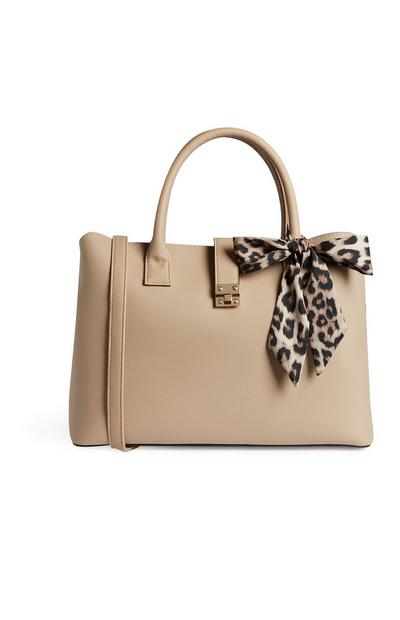 Nude Bow Tote Bag