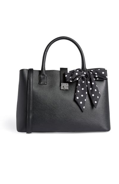 Black Bow Tote Bag