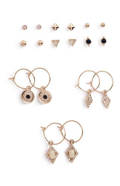 Charm Earrings 9Pk
