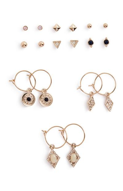 Charm Earrings 9Pk