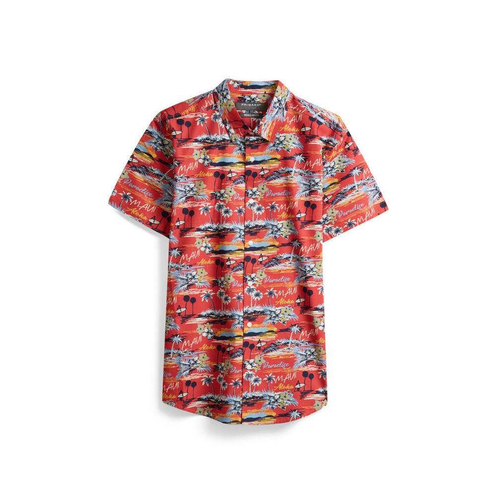 venta caliente barato talla 7 precio atractivo Camisa hawaiana roja | Manga corta | Camisas | Hombre | Las ...
