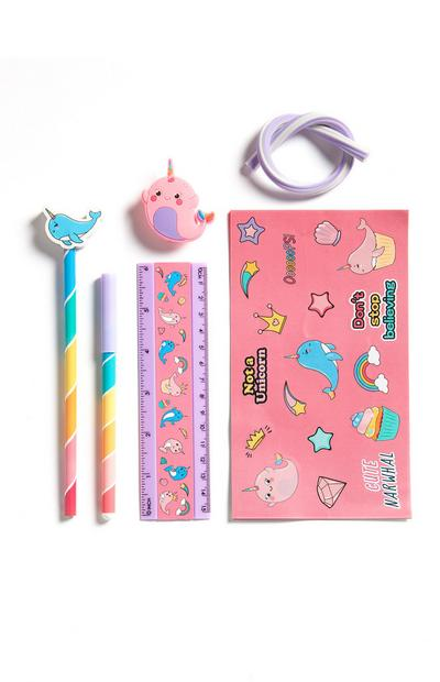 Narwhal Stationery Set