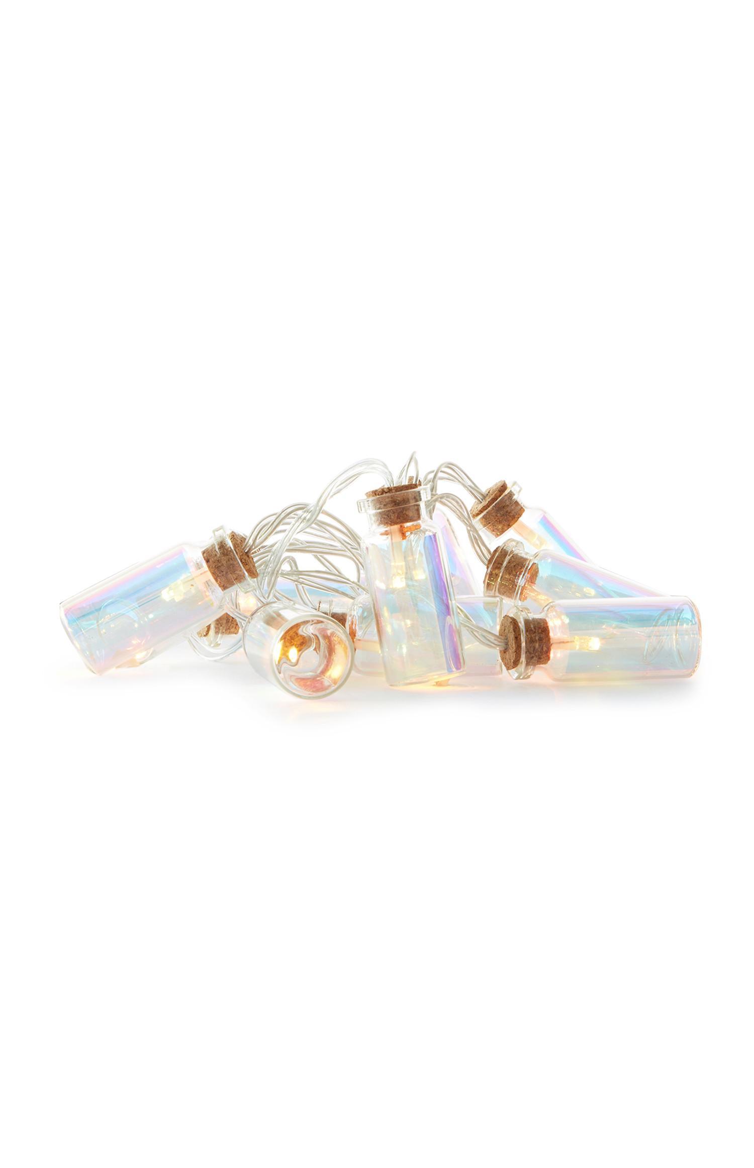 Cadena de luces con forma de botella
