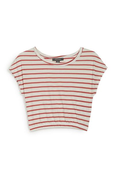 Orange Stripe Top
