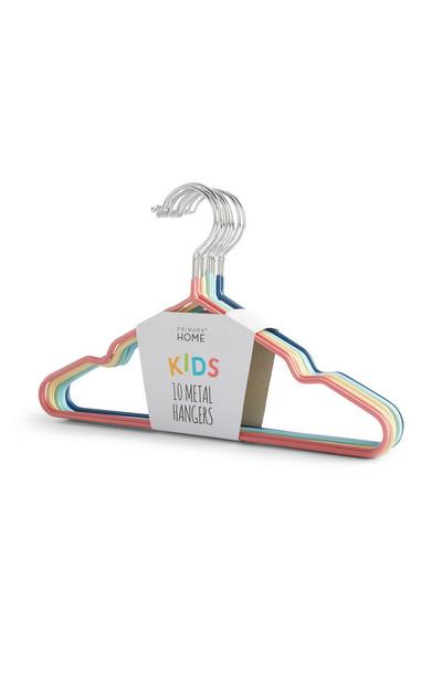 Colourful Metal Hangers 10Pk