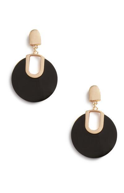 Black Circle Earrings