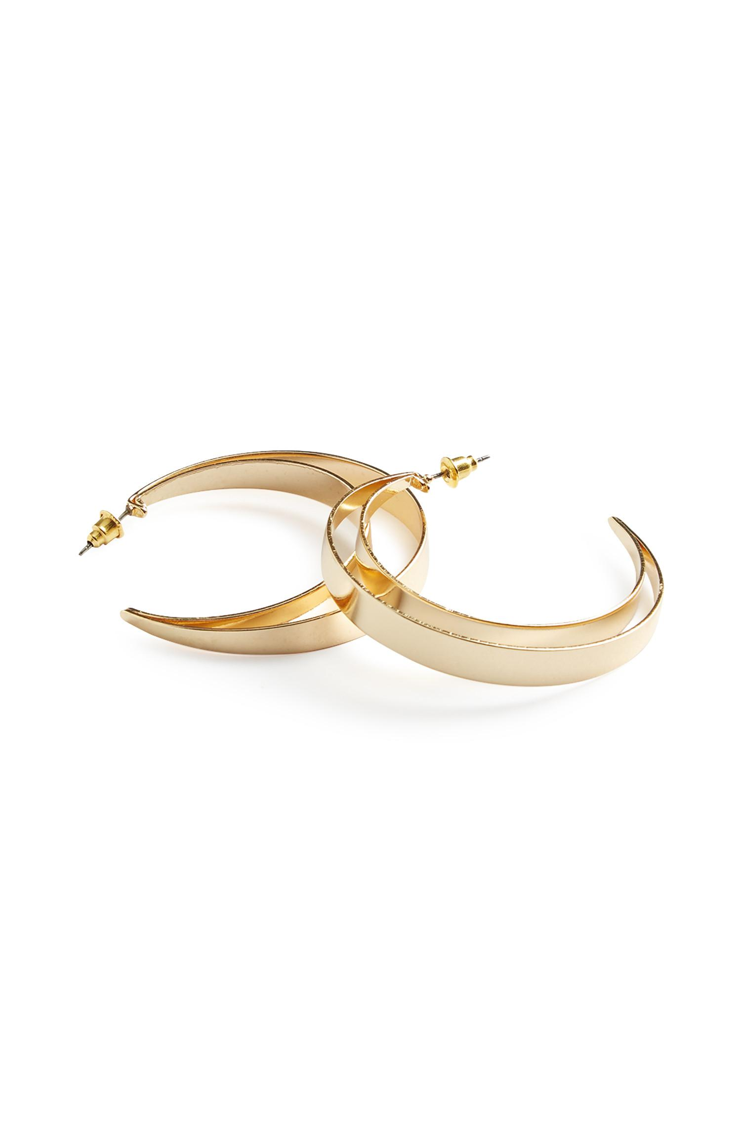 D1-Chunky Layer Hoop Earrings