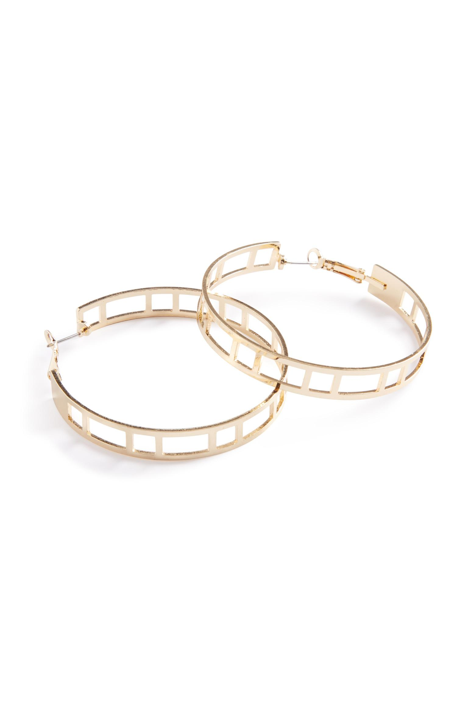 Cut Out Hoop Earrings