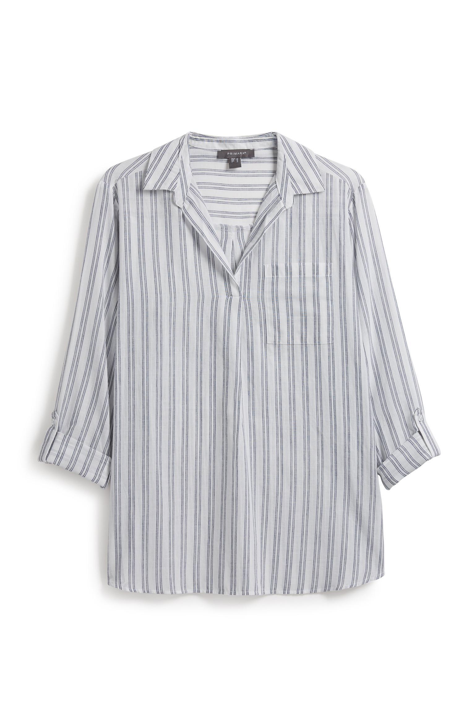 Tunica stile camicia a righe