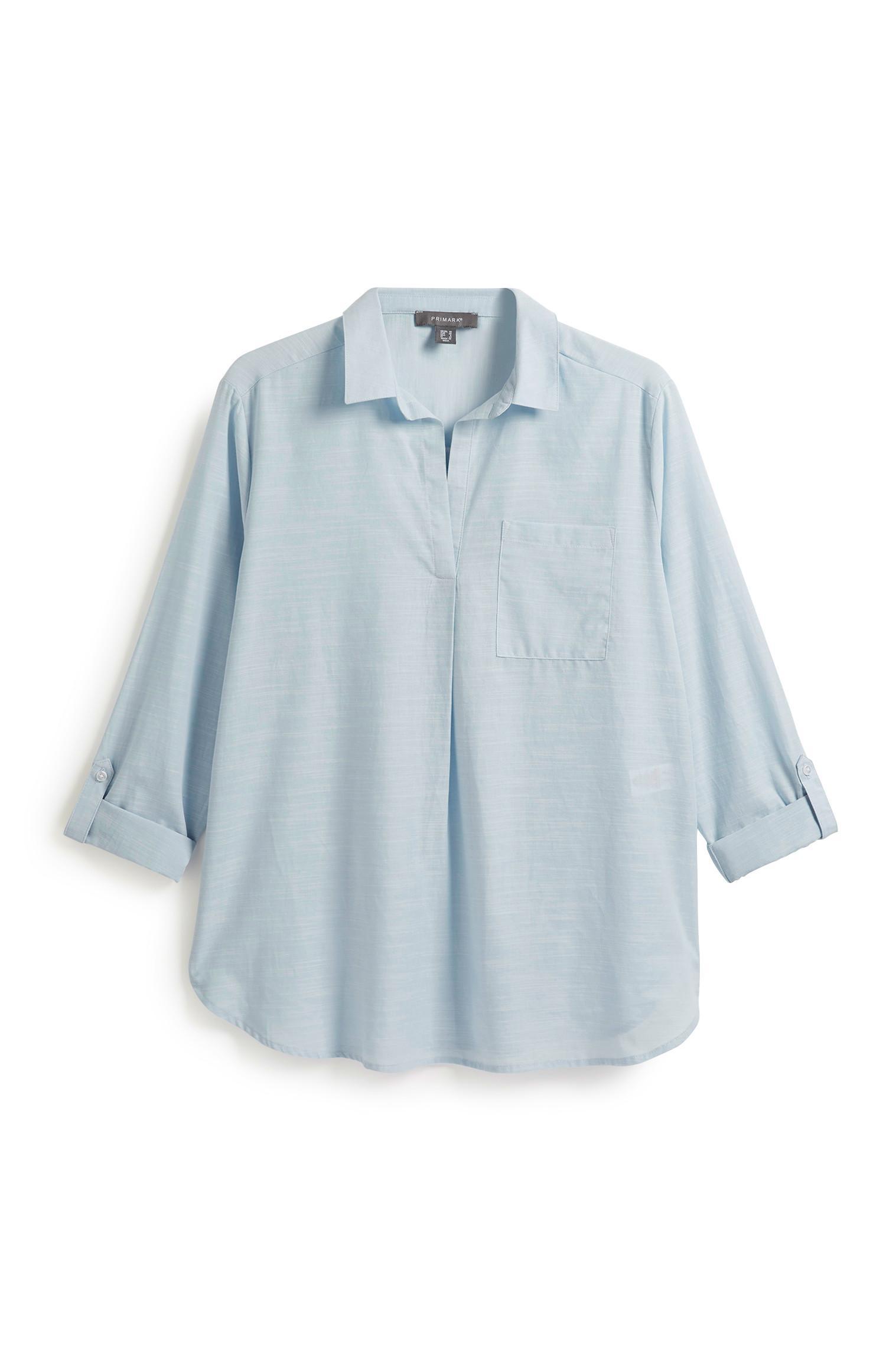Camicia a tunica blu