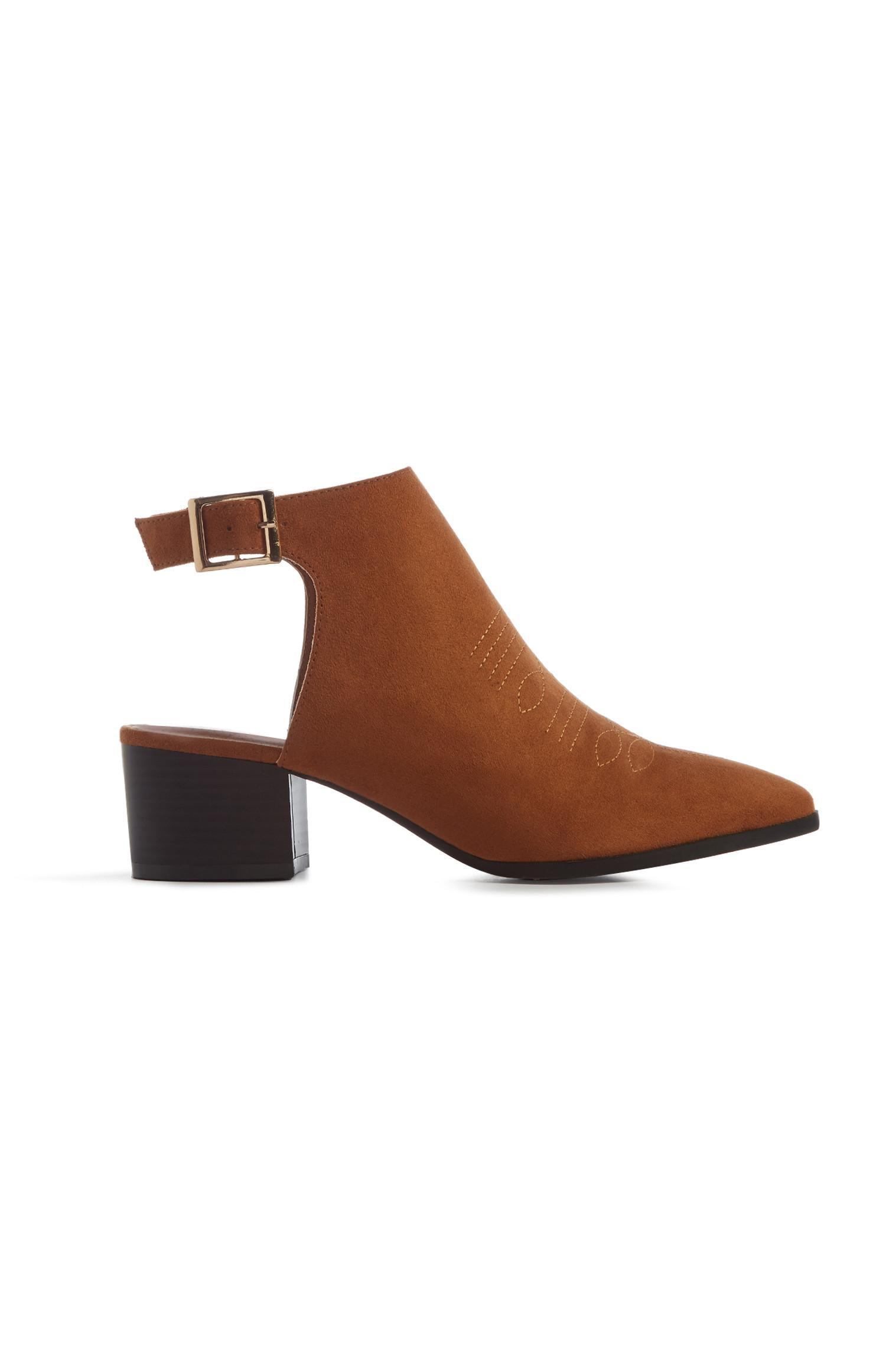 Tan Open Back Boot