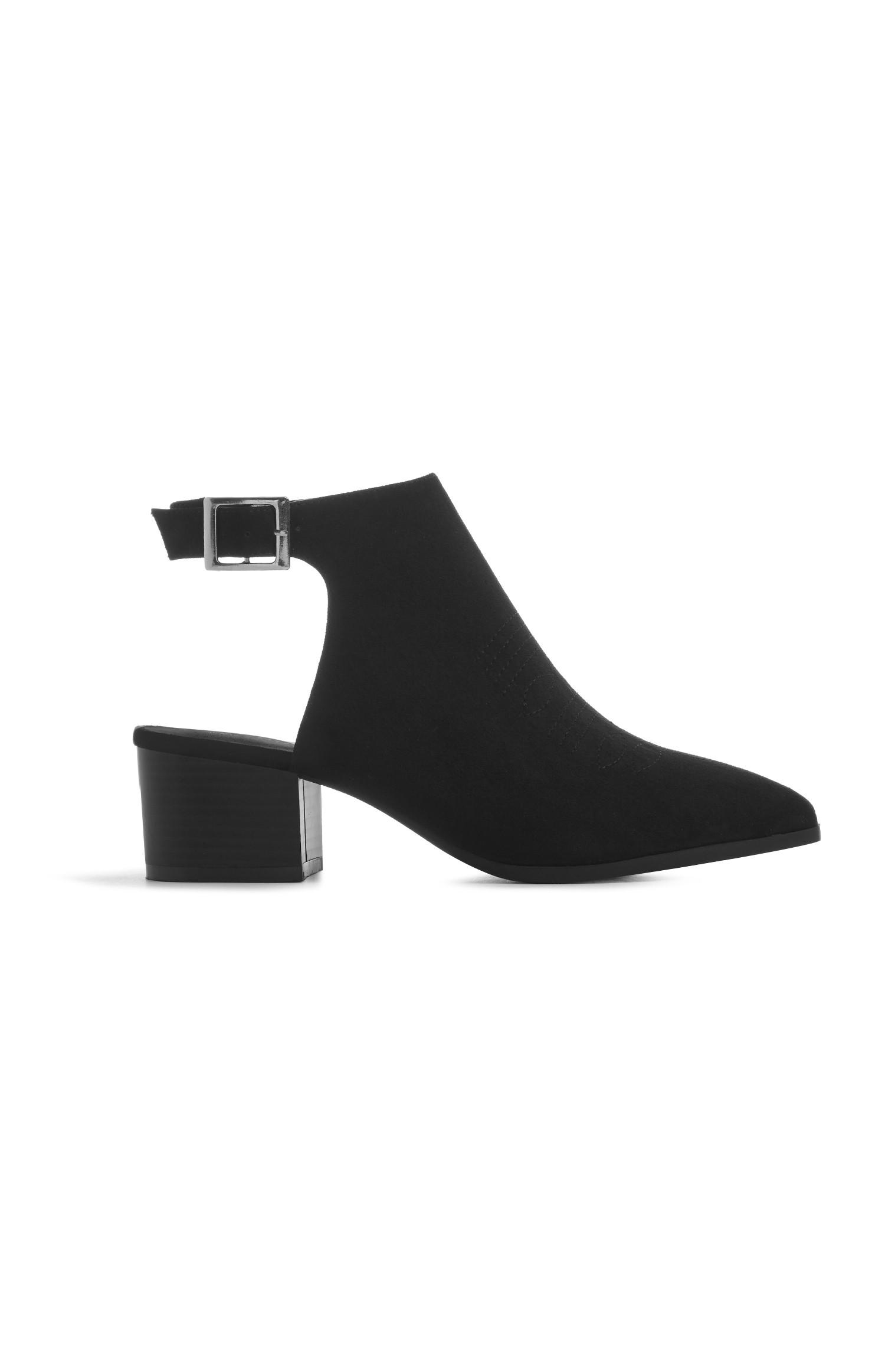 Black Open Back Boot