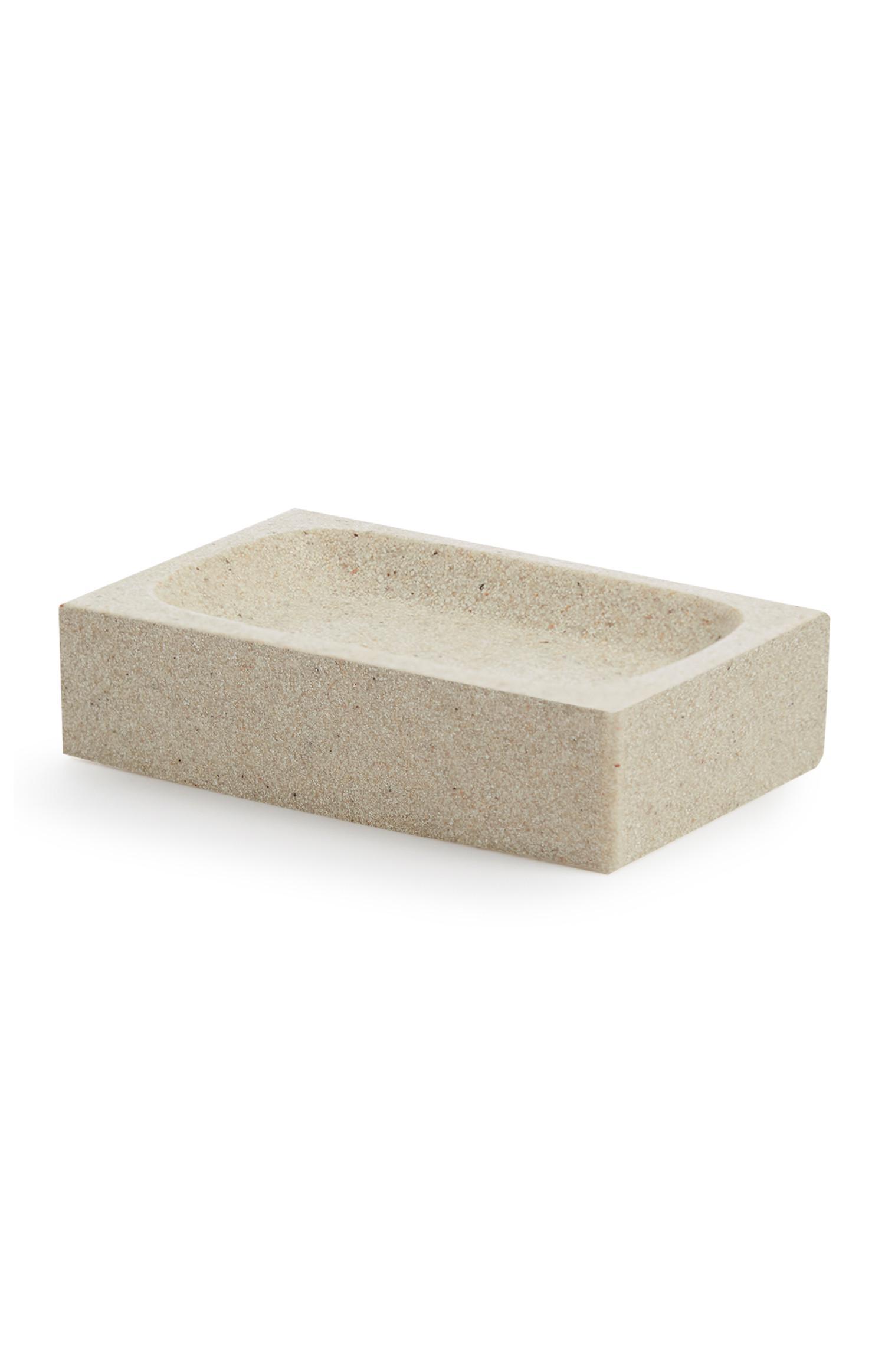 Porte-savon effet pierre