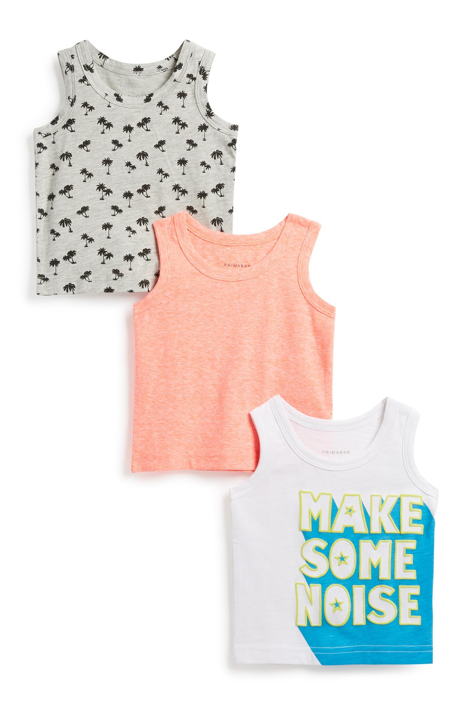 Babyhemdje voor jongens, 3 st.