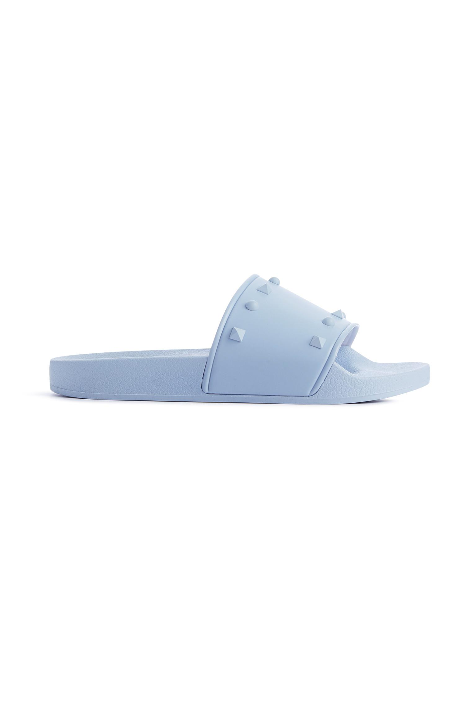 Light Blue Stud Slides