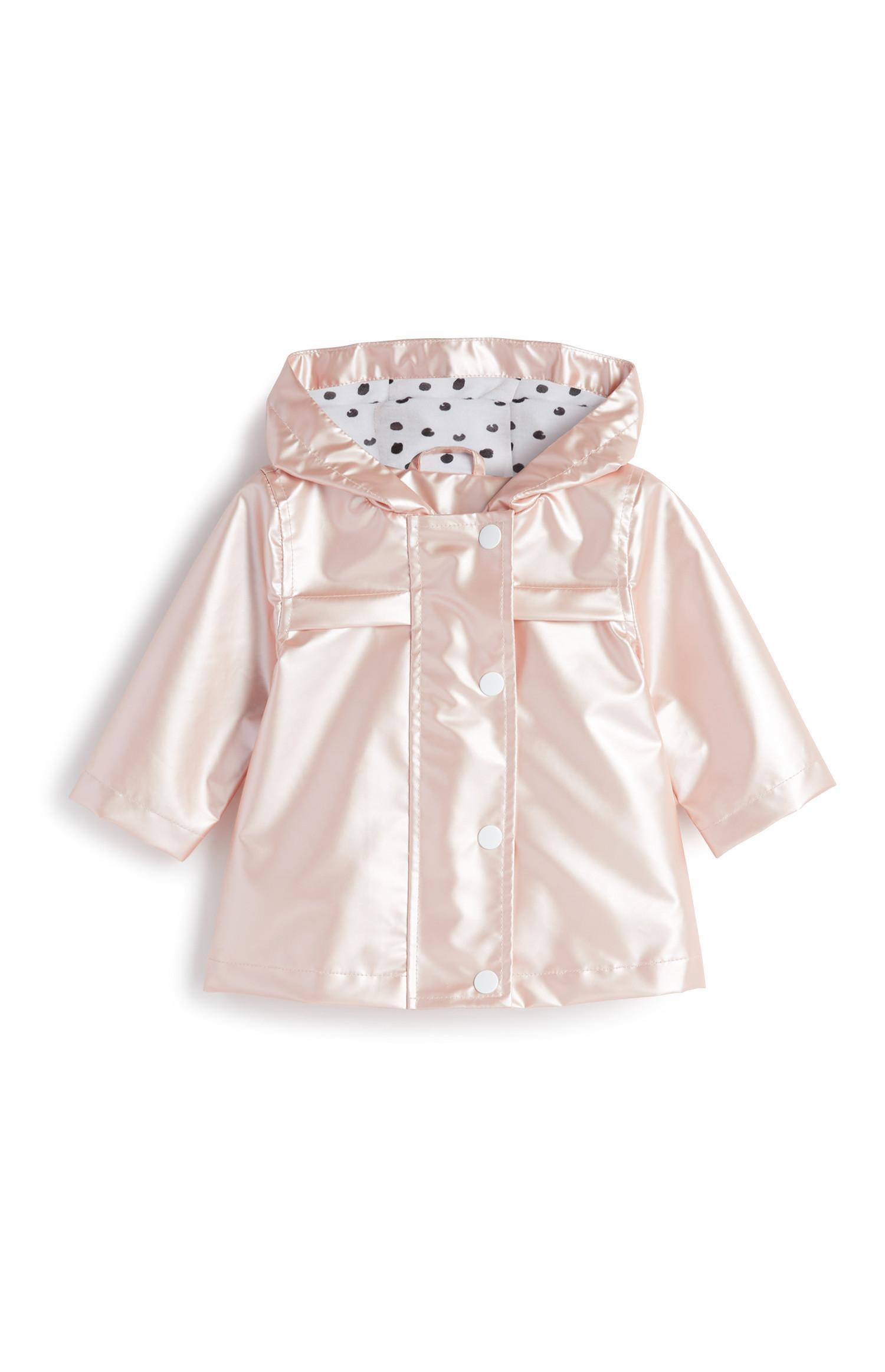 Roze babyregenjas voor meisjes