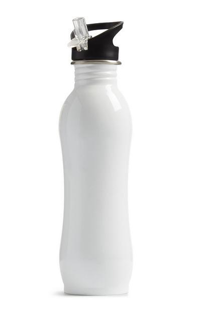 White Steel Sports Bottle