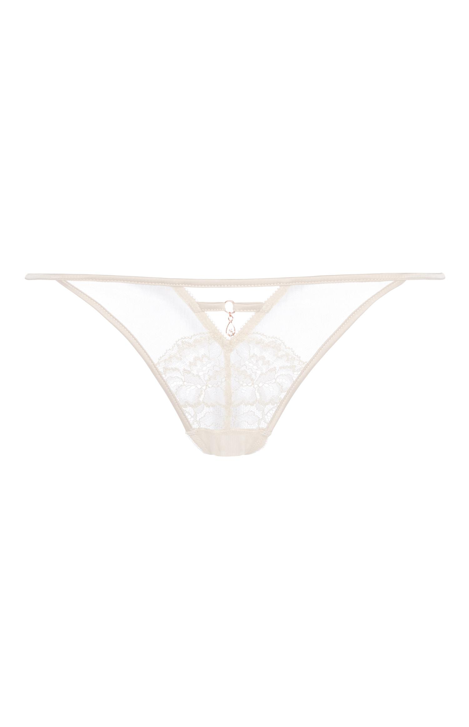 Champagne Lace Thong