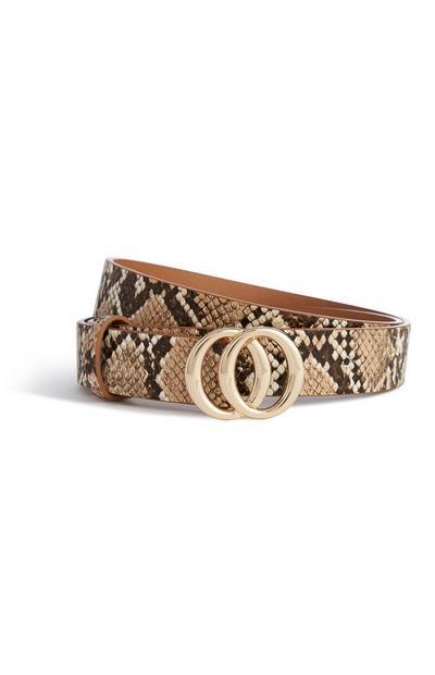 Snake Print Belt