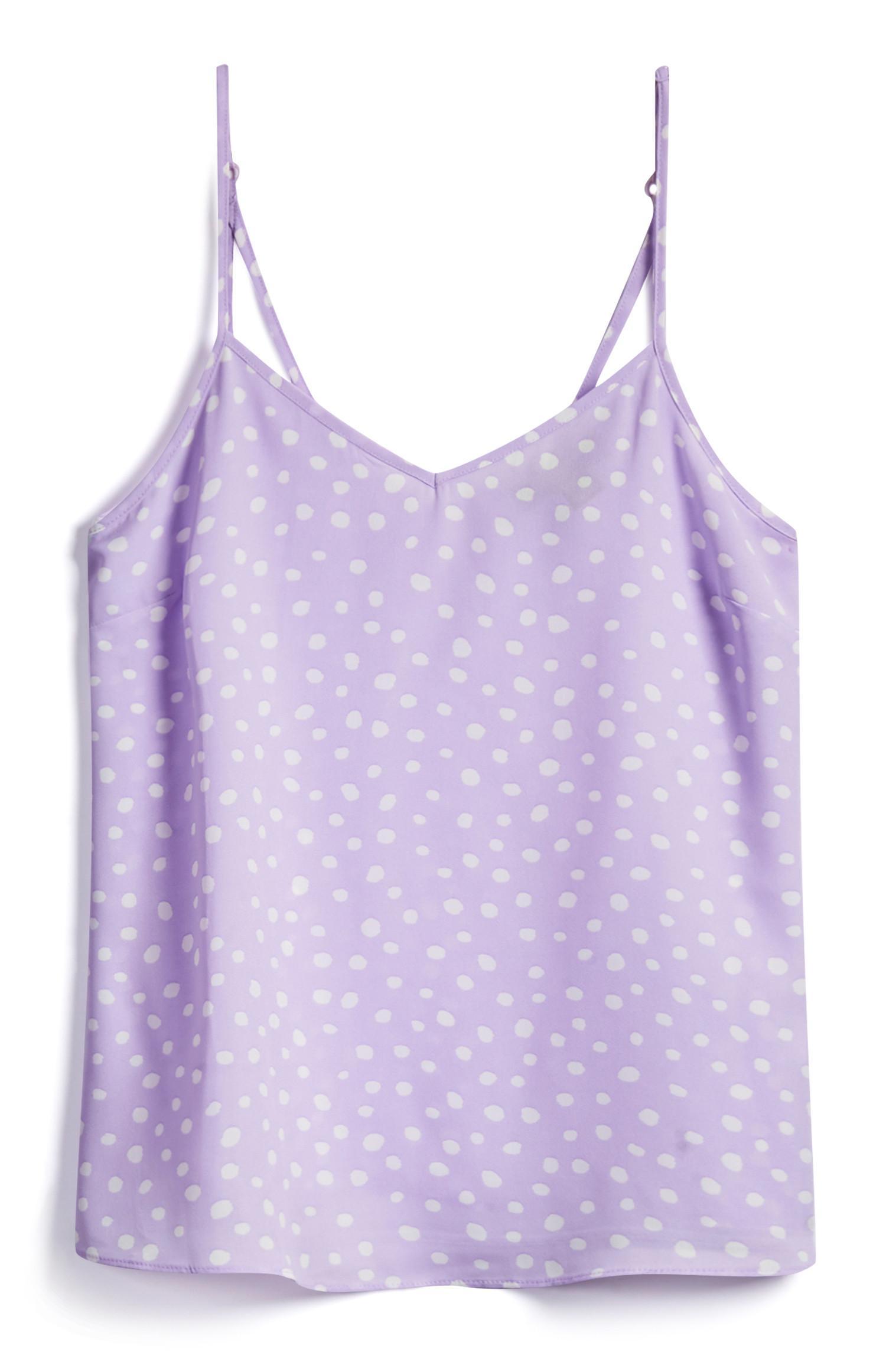 Caraco violet à motifs