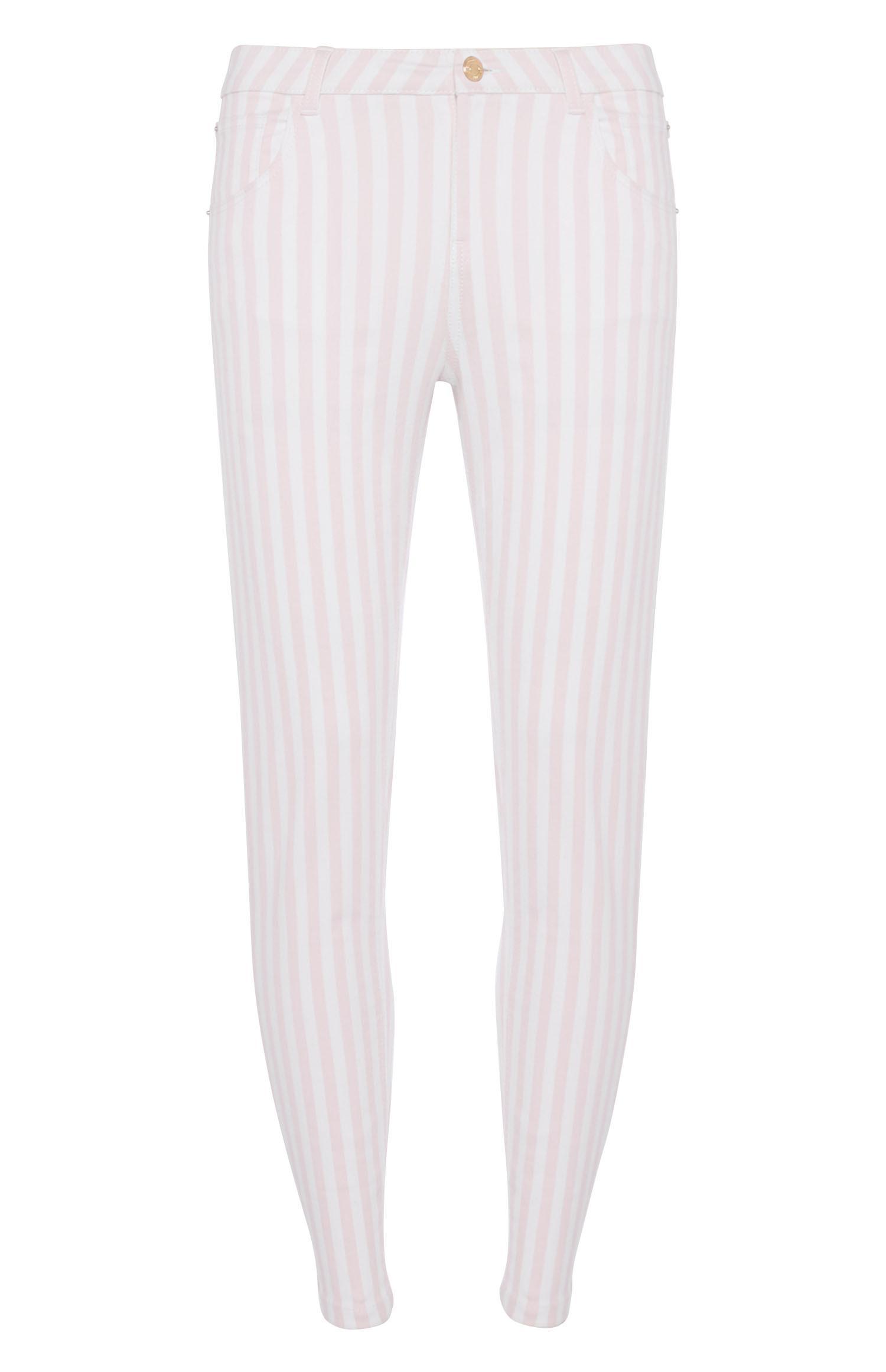 Pink Stripe Skinny Trouser