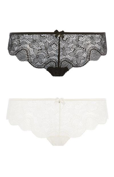 Ivory And Black Brief 2Pk