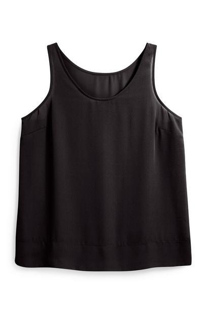 Black Crepe Vest