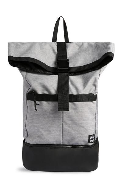 Grey Foldover Backpack