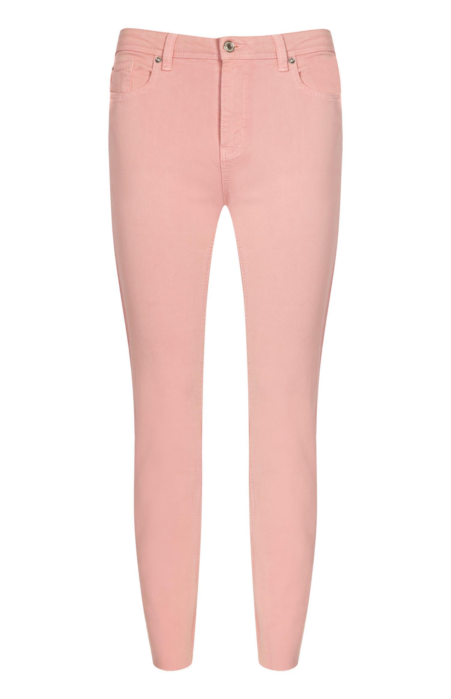 Calças ganga skinny cor-de-rosa