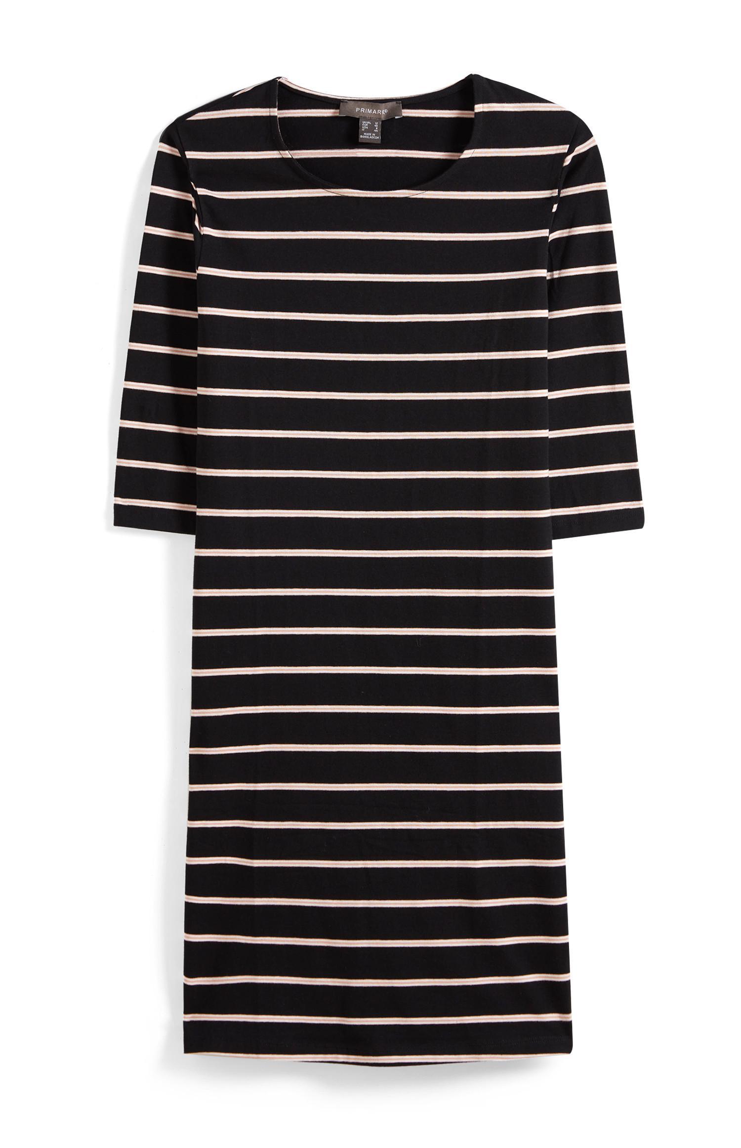 Black Stripe Bodycon Dress