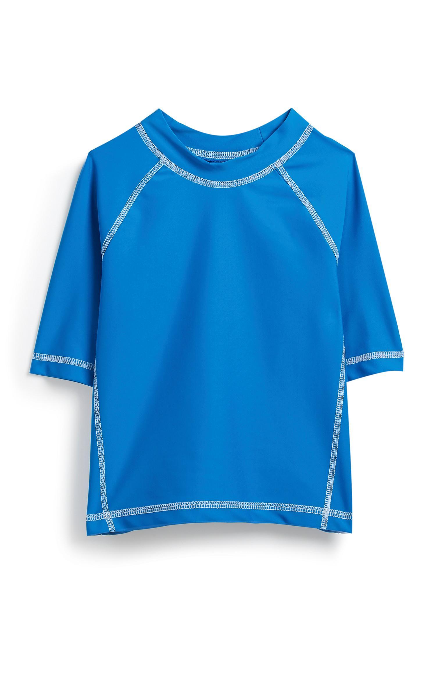 Blauw uv-veilig shirt, jongens