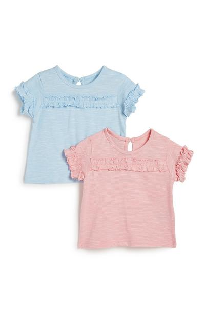 Baby Girl Frill T-Shirt 2Pk