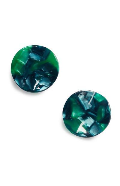 Green Resin Earring